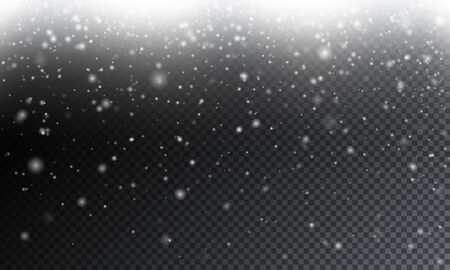 Vector winter holiday background with falling snowflakes. Vector illustration for your graphic design. Foto de archivo - 130021884