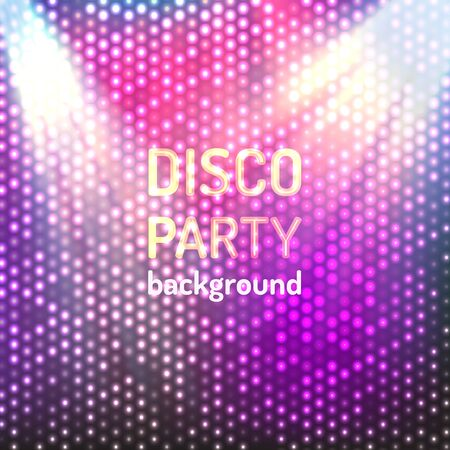 Colorful and bright violet disco party background. Vector illustration for your graphic design.
