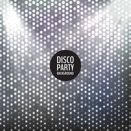 Colorful and bright disco party background. Vector illustration for your graphic design. Ilustrace