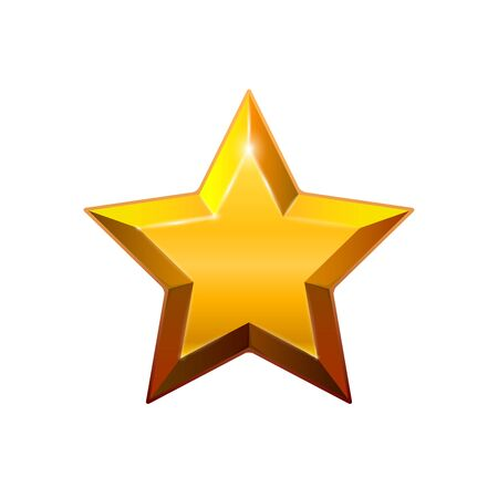 Gold star isolated on white background. Vector illustration for your graphic design.