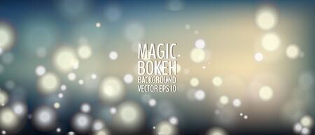 Bokeh background with shiny particles. Magical blurry background. Vector illustration for your graphic design.