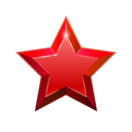 Red star isolated on white background. Vector illustration for your graphic design. Illustration
