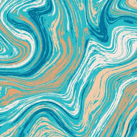 Creative colorful marble background. Blue marble swirls. Vector illustration for your graphic design. 向量圖像
