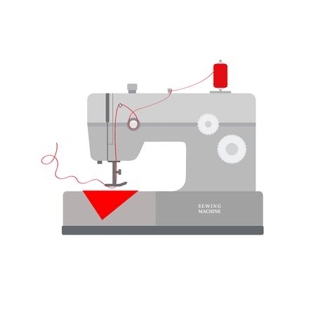 Modern sewing machine isolated on white background. Vector illustration for your graphic design. Ilustração