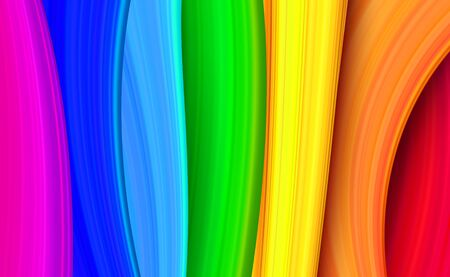 Colorful and bright rainbow abstract material design background. Textured rainbow stripes vector backdrop. Vector illustration for your graphic design. Ilustração