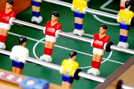 uefa: Tabletop football representing the UEFA, world champoinship or Bundesliga Stock Photo