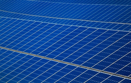 A blue big solar panel power plant Stock Photo - 11547612