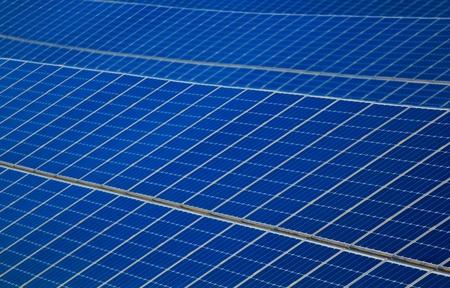 A blue big solar panel power plant Stock Photo - 11547612