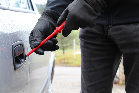 Car theft with a screwdriver photo