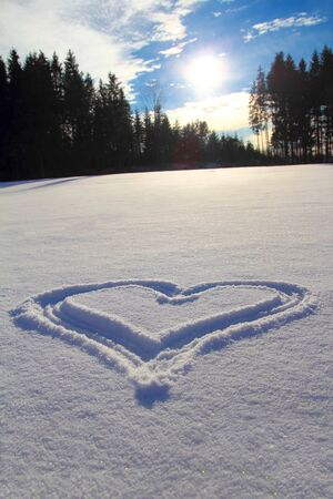 bottomless: Heart in the snow