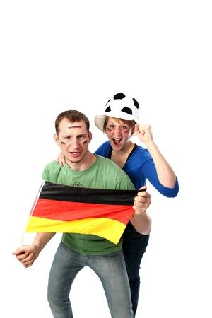 Cuple soccer fans