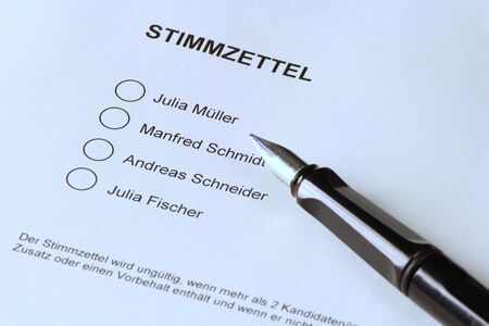 German ballot photo