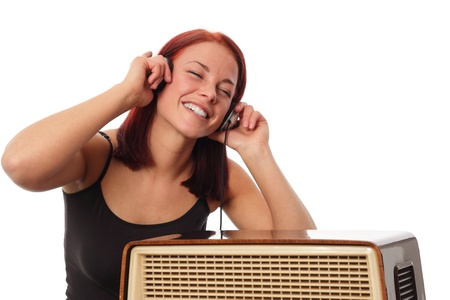 Young woman enjoying music Standard-Bild - 121545832
