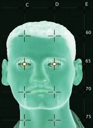 Scanned biometric face photo