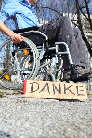 Poor wheelchair user  photo