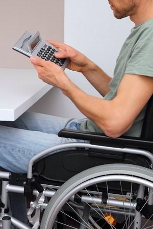 paraplegia: A Wheelchair user with calculator