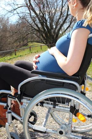 paraplegia: A Pregnant woman in a wheelchair