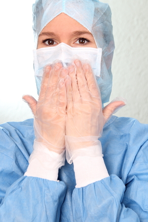 botched: A Scared female Physician with Hands on mouth OP