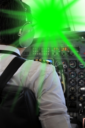 blinded: A Pilot blinded from a Laserpointer