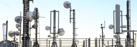 antennas: Many Mobile phone Masts and transmission towers