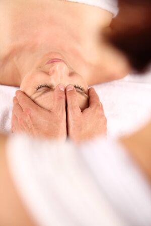 A Head Massage or osteopathy