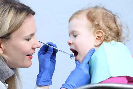 A Little Child at female dentist photo