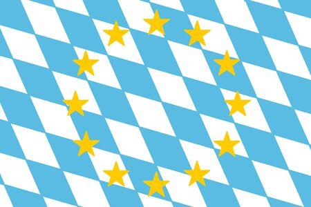 Eine Bayern und Flagge der Europa EU Standard-Bild - 90918878