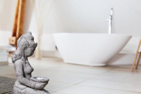 A Modern Bathroom with freestanding Bath Tub