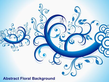 voilet: abstract blue floral vector illustration