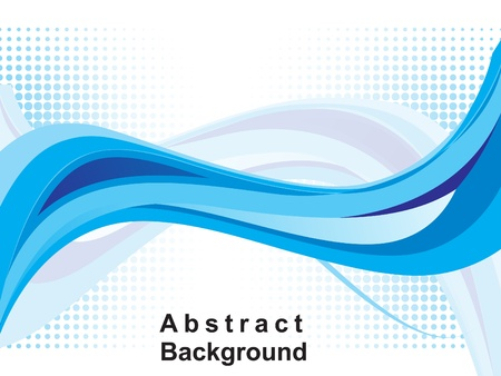 abstract blue web background vector illustration