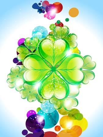 clover backdrop: abstract colorful  sant patrick background vector illustration