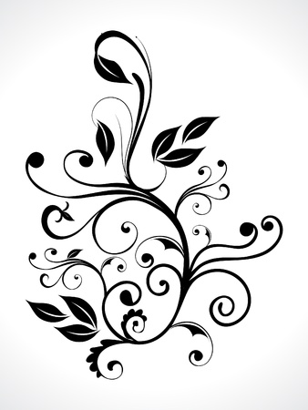 flourish: abstract floral with curve vector illustration  Illustration