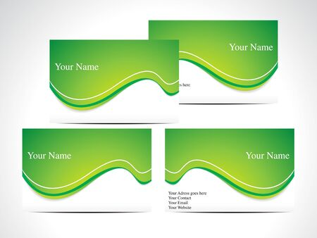 abstract green business card vector illustration Stock Vector - 10276281