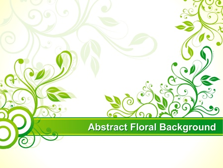abstract green floral background vector illustration  Stock Vector - 10276277