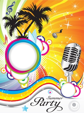 nightclub party: abstract summer party background vector illustration Illustration