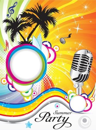fiestas discoteca: parte abstracta de verano de fondo ilustraci�n vectorial Vectores