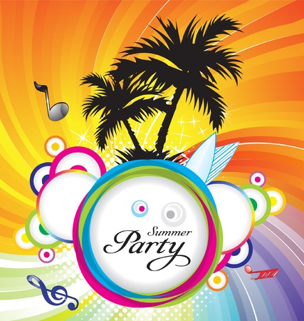 abstract summer party background  vector illustration Vector