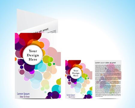 abstract colorful circuler  brochure vector illustration  Illustration