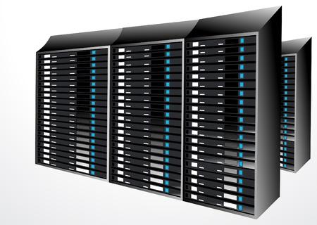 server: astratto i dati del server stazione illustrazione vettoriale