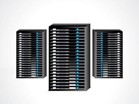 databank: abstracte data server set vector illustratie