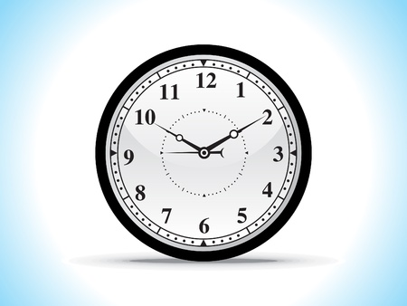 abstract black clock vector illustration  Stock Vector - 10276368