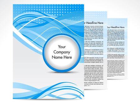 folleto: Ilustraci�n de vector de dise�o abstracto folleto azul