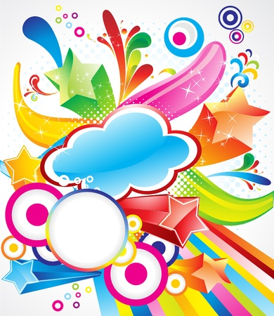 abstract colorful exploade background with stars Stock Vector - 10276330