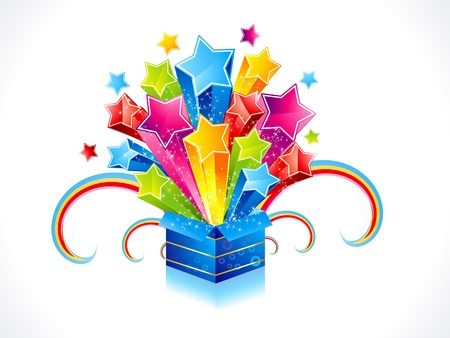 abstract colorful magic box with star Vector
