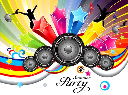 party dj: abstraites color�es backgrougnd musicale Illustration