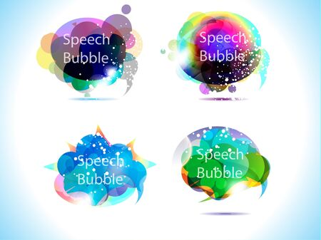 abstract colorful speech bubble vector illustration Stock Vector - 10276337