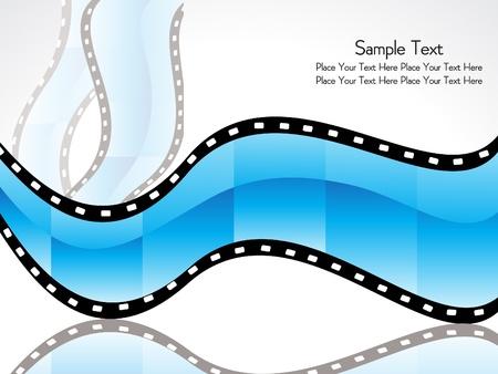 abstract film strip vector illustration