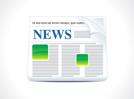 lately news: abstract news icon vector illustration  Illustration