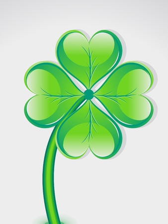 four leafed: abstract st patrick  day vector illustration  Illustration