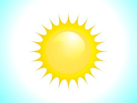 abstract vector sun Stock Vector - 10276327